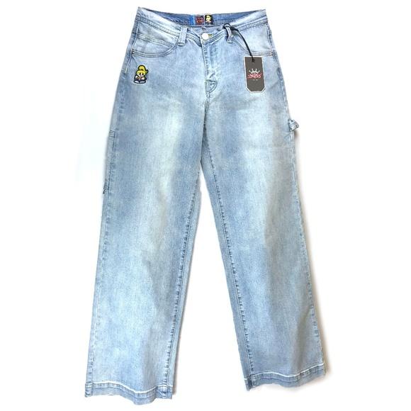 SOLD 90s DEADSTOCK JNCO Light Wash Wide Leg Jeans